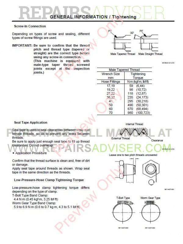 Hitachi EX75UR-5/75US-5 Excavator Set of PDF Manuals Download