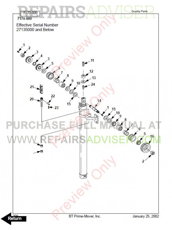 BT Electric Counterbalanced Order Selector OE35 Model Set of PDF Manuals, Manuals for Trucks by www.repairsadviser.com