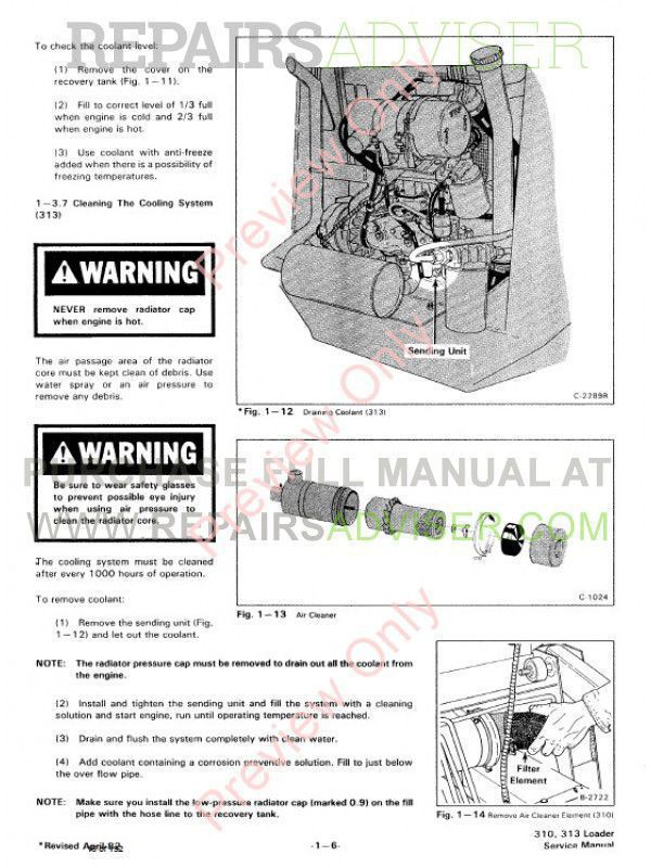 Bobcat 310, 313 Skid Steer Loaders Service Manual PDF, Bobcat Manuals by www.repairsadviser.com
