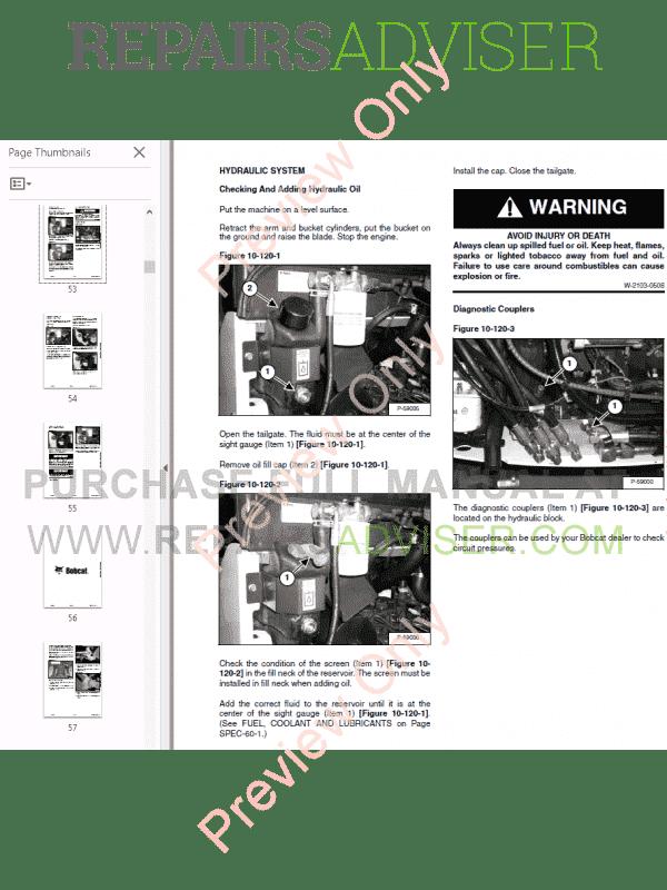 Bobcat 323 operation Manual