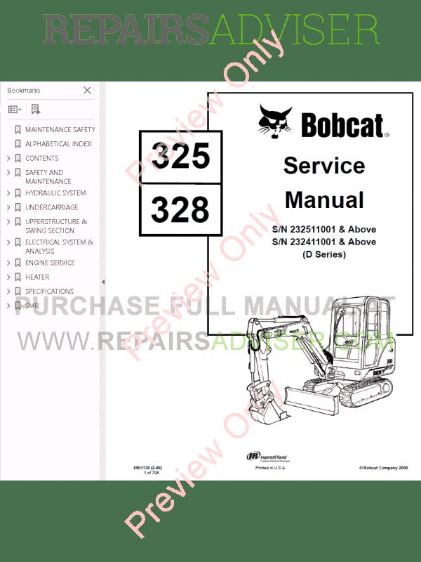 Bobcat 328 Swivel Joint