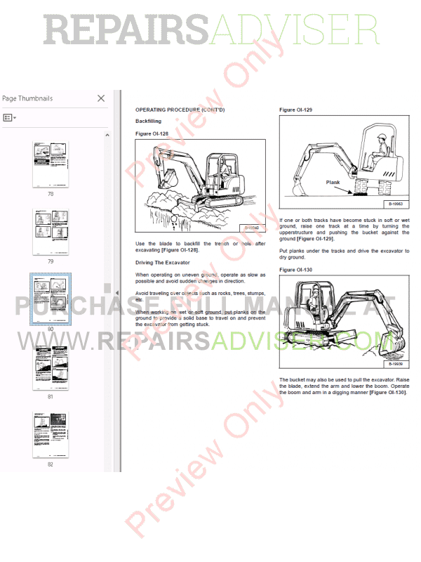 Bobcat 331, 331E, 334 Compact Excavator Operation and Maintenance Manual PDF, Manuals for Heavy Equip. by www.repairsadviser.com
