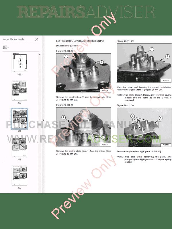 Bobcat 331, 331E, 334 Excavators G-Series Service Manual PDF