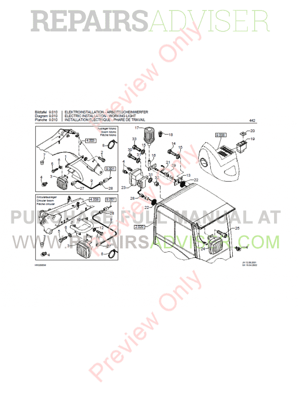 Bobcat 442 Compact Excavator Parts Manual PDF, Bobcat Manuals by www.repairsadviser.com