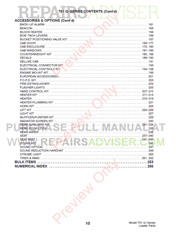 Bobcat 751 G-Series Skid Steer Loader Parts Manual PDF, Bobcat Manuals by www.repairsadviser.com