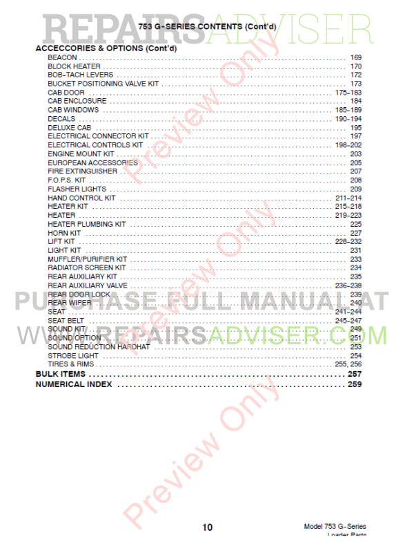 Bobcat 753 G-Series Skid Steer Loader Parts Manual PDF, Bobcat Manuals by www.repairsadviser.com