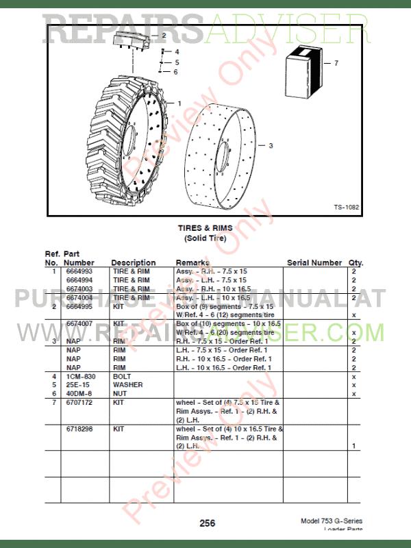 Download Bobcat 753 G-Series Loader Parts List PDF