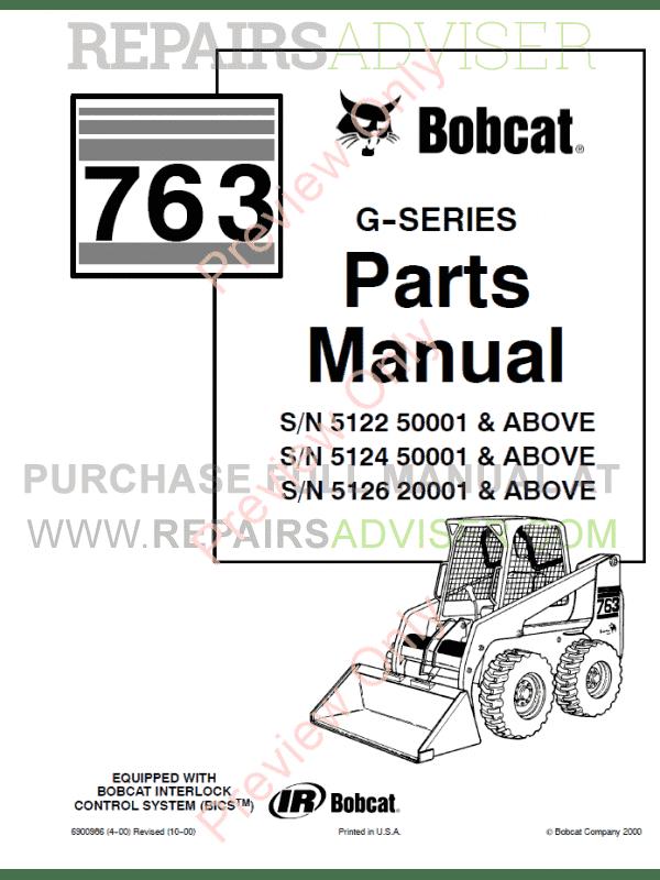 Bobcat 763 Parts Diagram - Wiring Diagrams Place