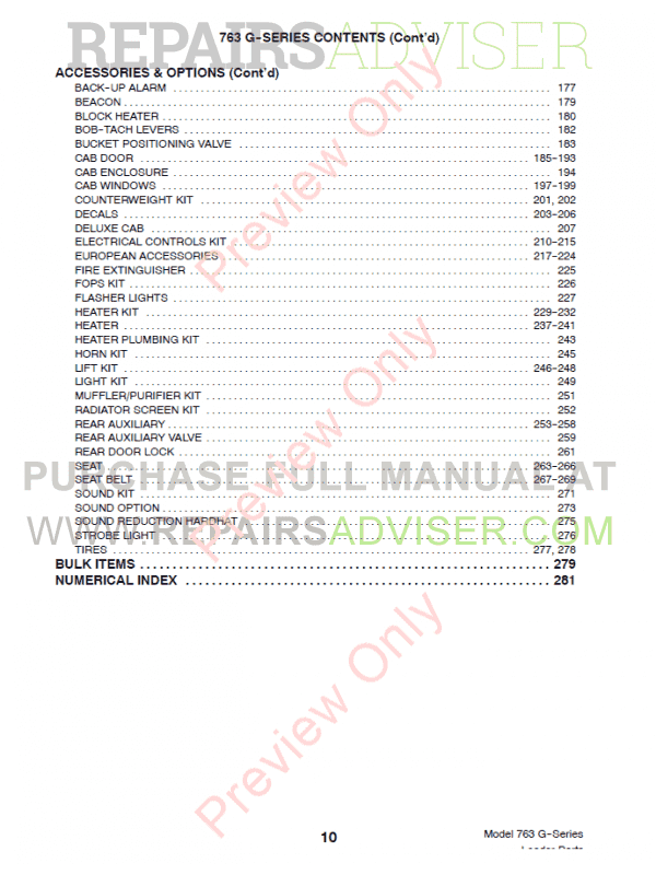 Bobcat 763 G-Series Skid Steer Loader Parts Manual PDF, Bobcat Manuals by www.repairsadviser.com