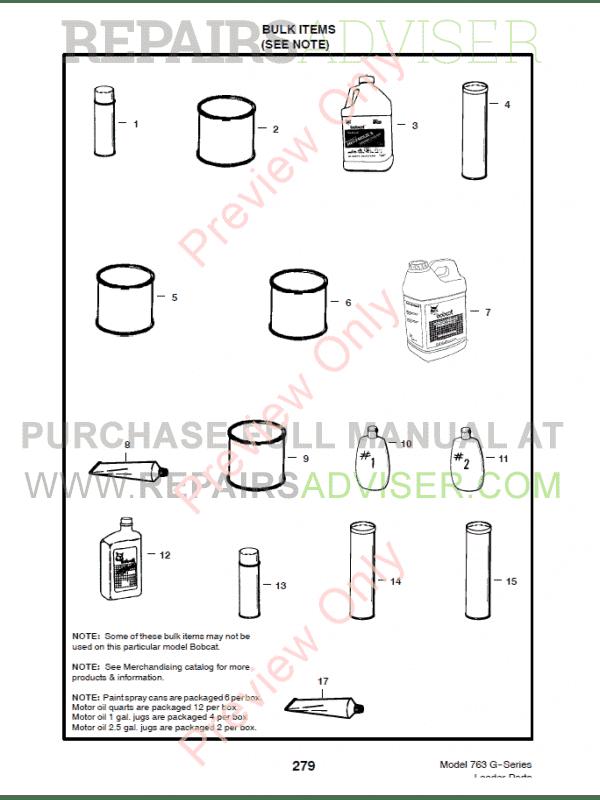 bobcat 763 g-series skid steer loader parts manual pdf, bobcat manuals  by www