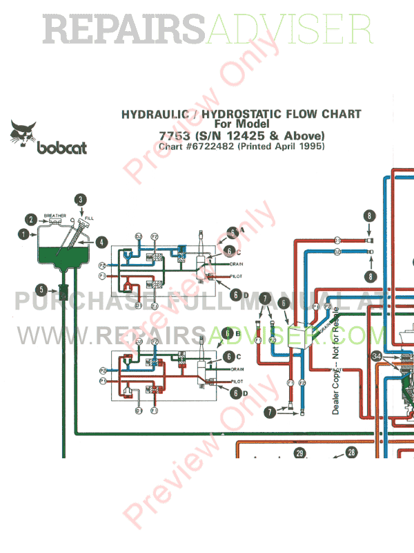 Bobcat 7753 Wiring Diagram on bobcat 873 f series parts diagram