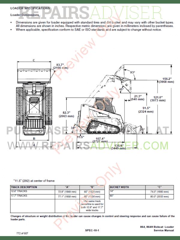 bobcat 864, 864 high flow loader service manual pdf, bobcat manuals by www