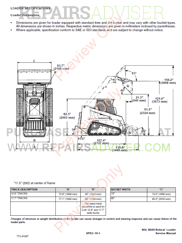 Bobcat 864, 864 High Flow Loader Service Manual PDF, Bobcat Manuals by www.repairsadviser.com