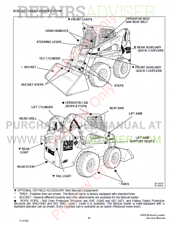 Bobcat A300 Turbo High Flow Skid Steer Loaders PDF Service Manual, Bobcat Manuals by www.repairsadviser.com