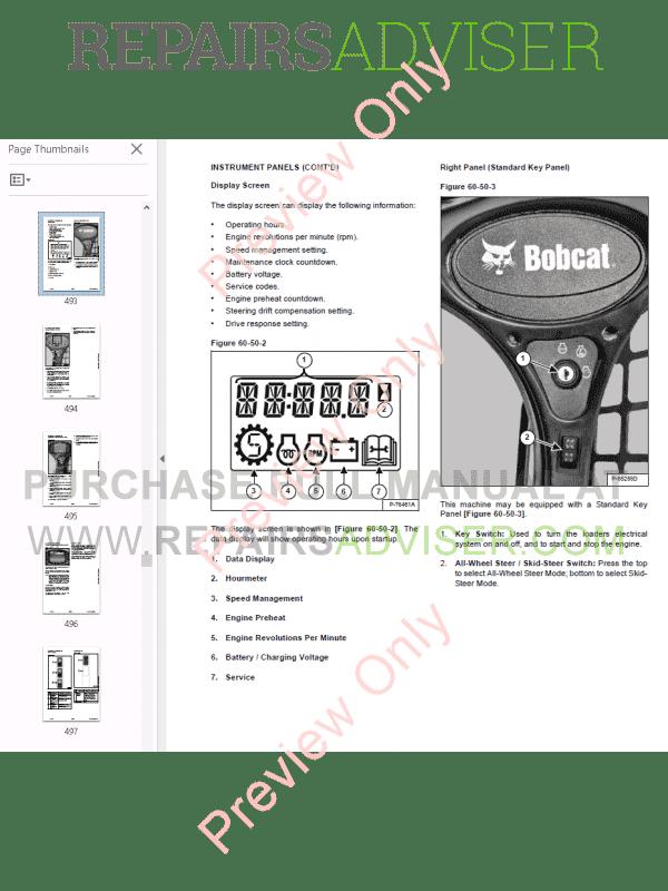 Bobcat A770 All-Wheel Steer Loader Service Manual PDF Download