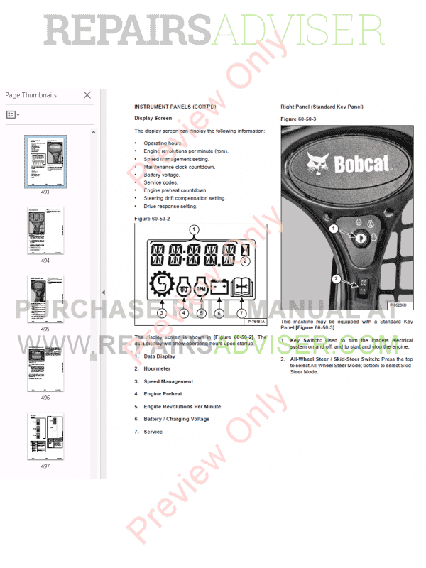 Bobcat A770 All-Wheel Steer Loader Service Manual PDF, Bobcat Manuals by www.repairsadviser.com
