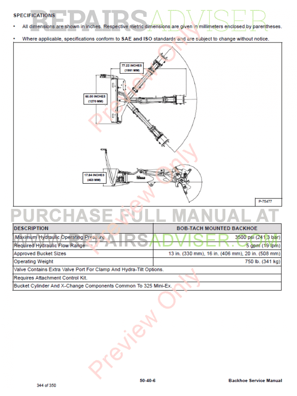 Bobcat Backhoe 406, 506, 607, 709, 709FDS, 8811, MO6 PDF Service Manual, Bobcat Manuals by www.repairsadviser.com