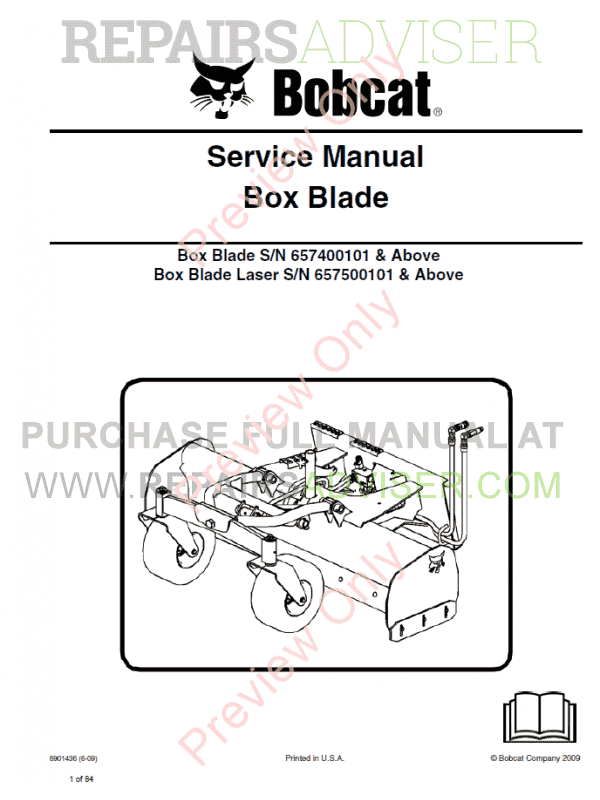 Bobcat Box Blade PDF Service Manual image #1
