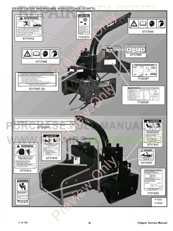 Bobcat Chipper WC-5A, WC-8A, WC-8B Service Manual PDF, Bobcat Manuals by www.repairsadviser.com