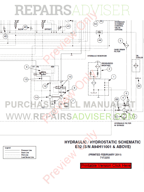 Bobcat Compact Excavator E32 Service Manual Pdf Download