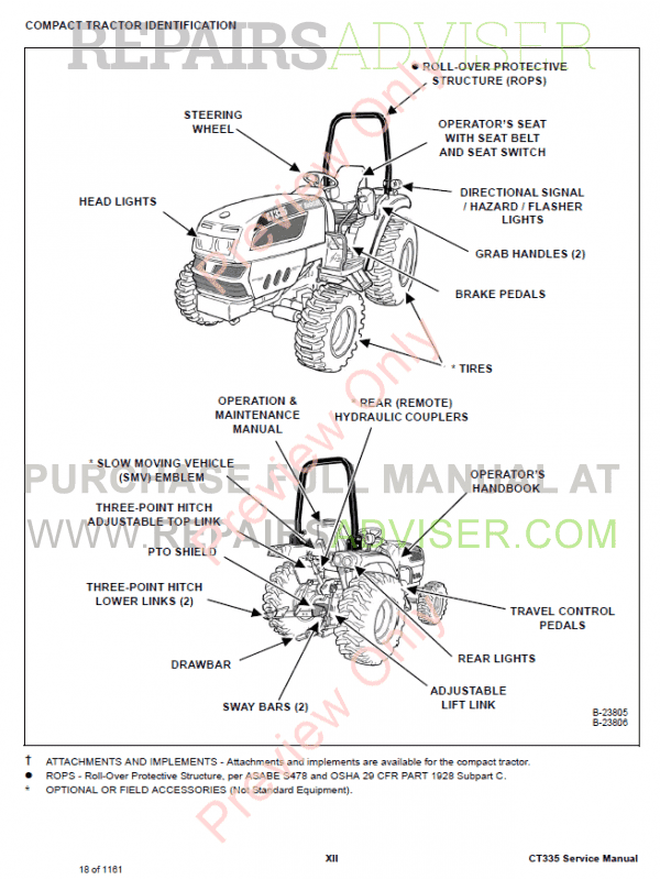Bobcat Compact Tractor CT335 Service Manual PDF, Bobcat Manuals by www.repairsadviser.com