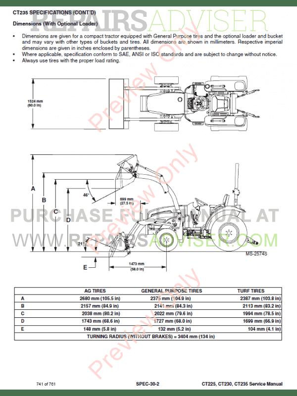 Bobcat Compact Tractors Ct225  Ct230  Ct235 Service Manual Pdf Download