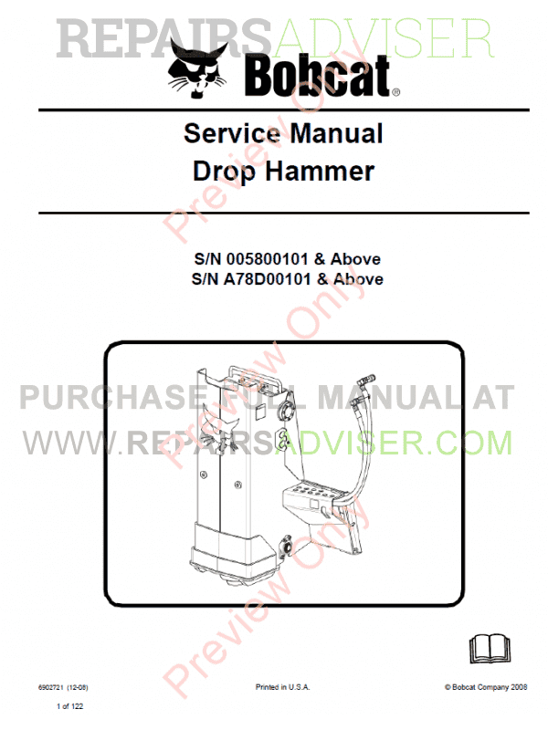 Bobcat Drop Hammer PDF Service Manual image #1
