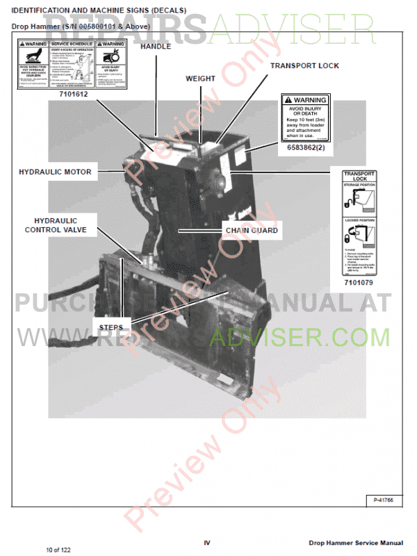 Bobcat Drop Hammer PDF Service Manual, Bobcat Manuals by www.repairsadviser.com