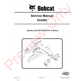 Bobcat e32 service Manual