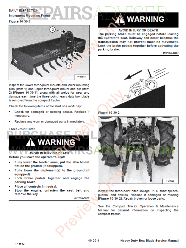 Bobcat Heavy Duty Box Blade Service Manual PDF, Bobcat Manuals by www.repairsadviser.com