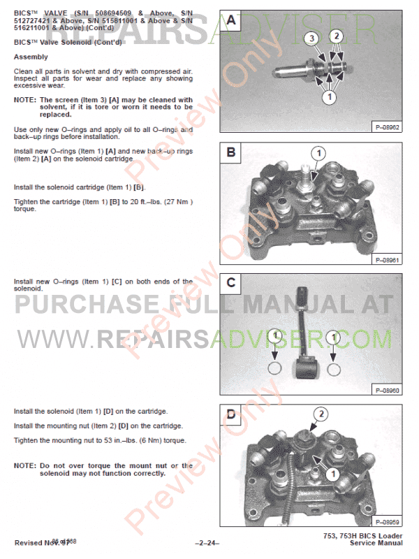 Bobcat High Flow Option 753 Skid Steer Loader Service Manual PDF, Bobcat Manuals by www.repairsadviser.com