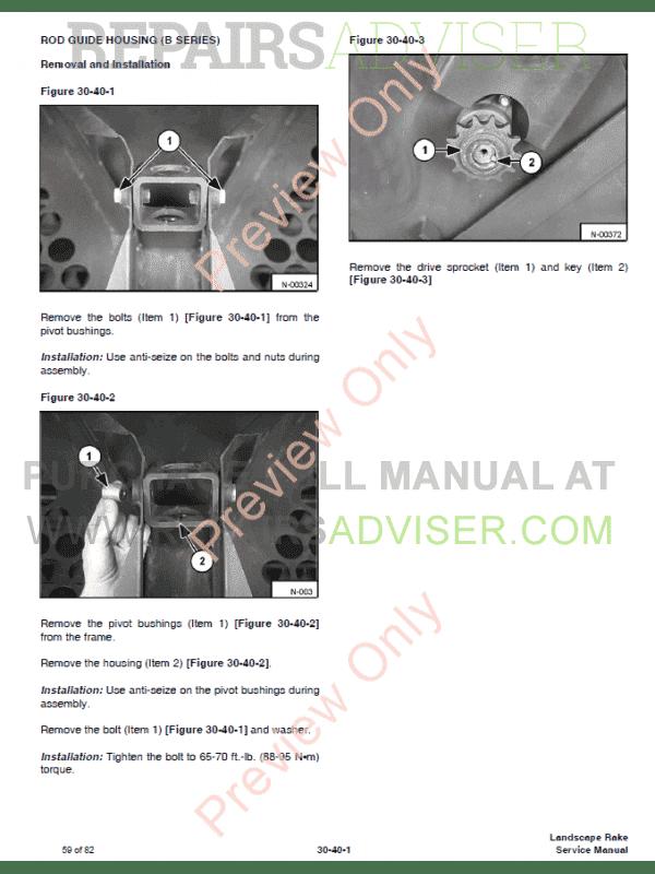 Bobcat Landscape Rake Service Manual PDF Download