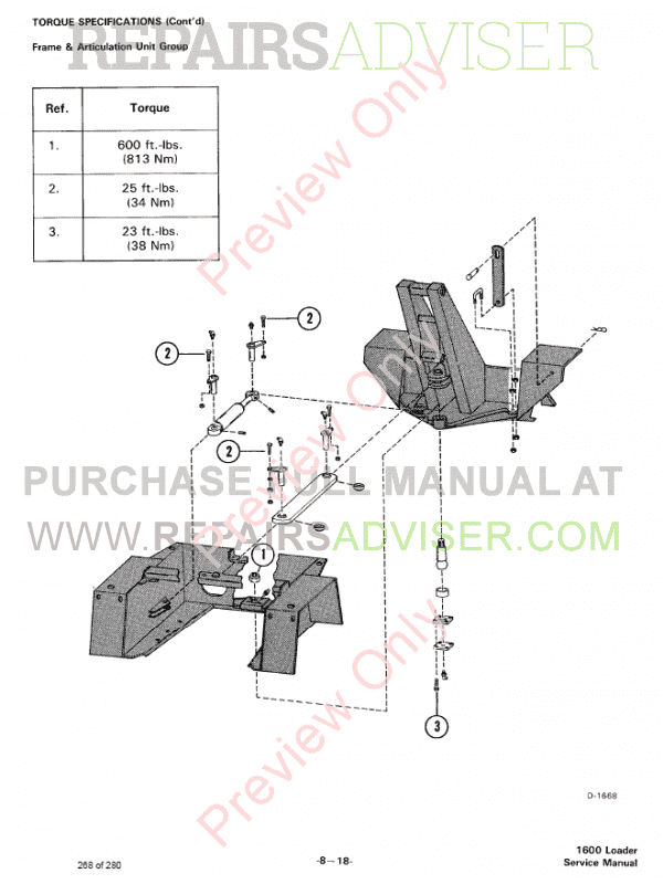 Bobcat Loader 1600 Service Manual PDF, Bobcat Manuals by www.repairsadviser.com