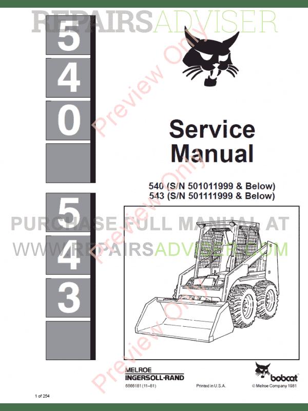 Bobcat 543 Manual