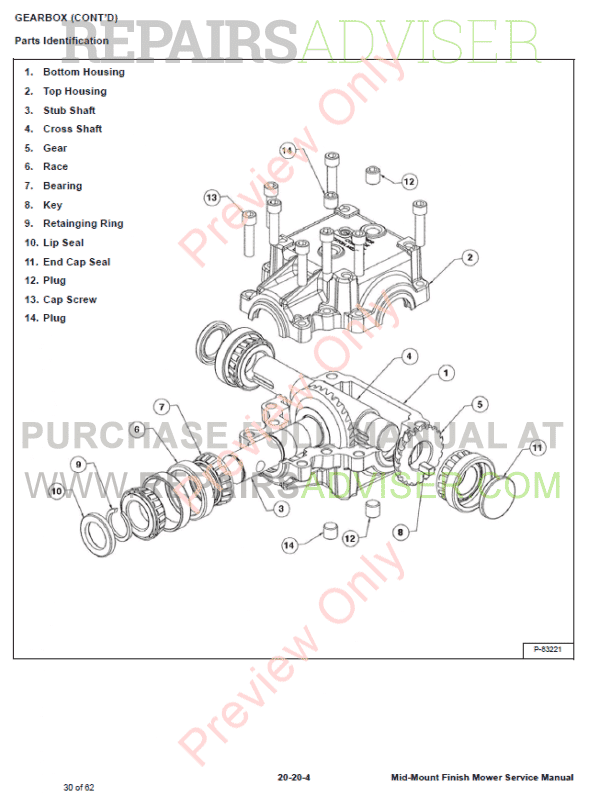Bobcat Mid-Mount Finish Mowers Service Manual PDF, Bobcat Manuals by www.repairsadviser.com