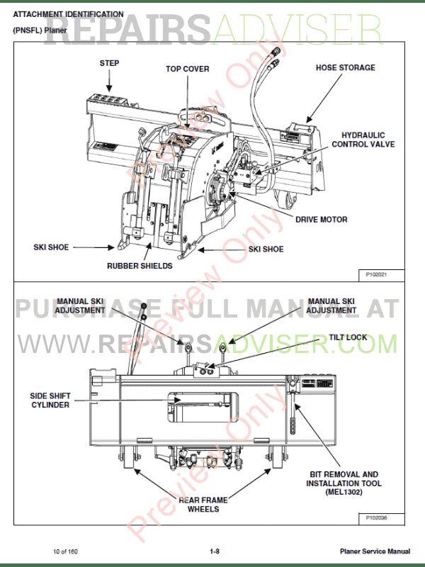 bobcat planers 18pla, 24pla, pnsfl service manual pdf, bobcat manuals by  www