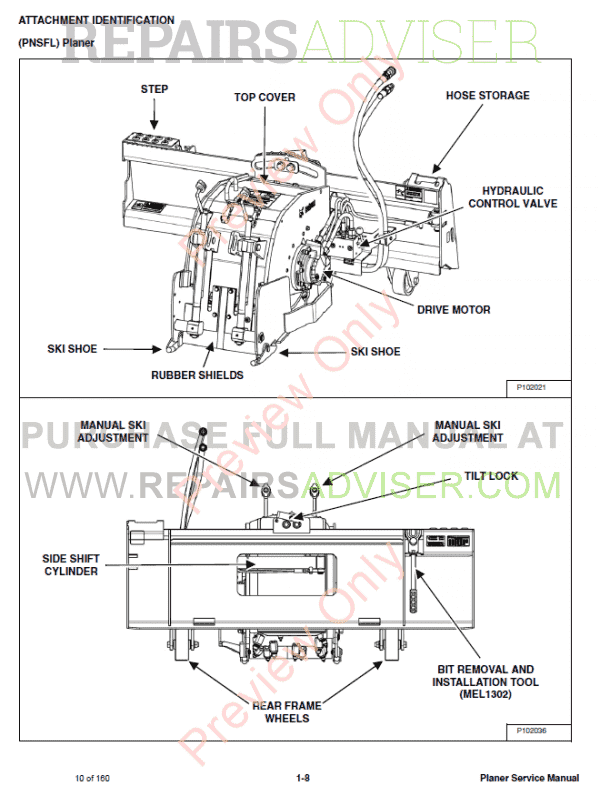 Bobcat Planers 18pla  24pla  Pnsfl Service Manual Pdf Download