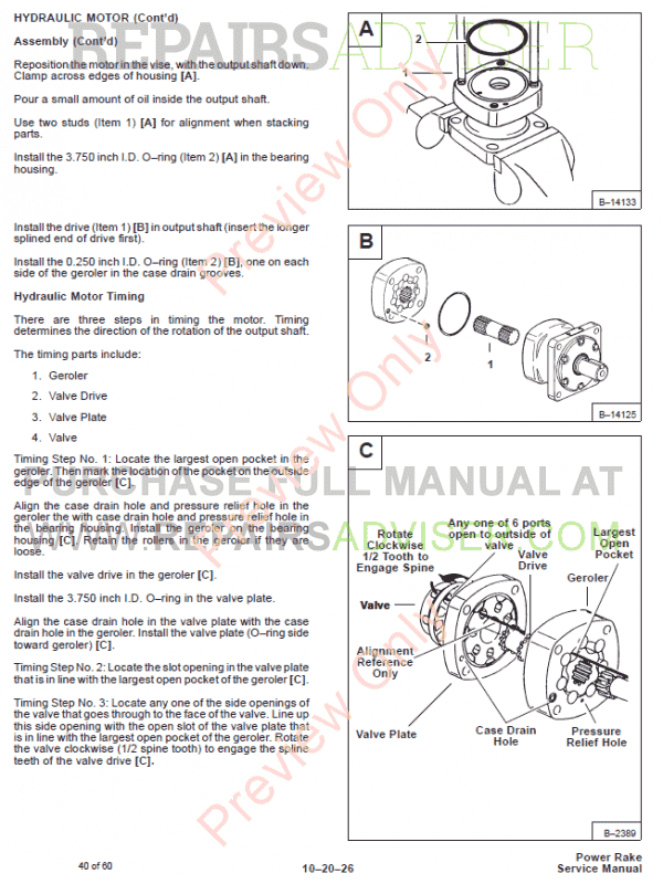 Bobcat Power Rake PDF Service Manual, Bobcat Manuals by www.repairsadviser.com