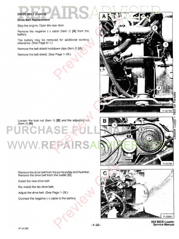 Bobcat Skid Steer Loader 653 Service Manual PDF, Bobcat Manuals by www.repairsadviser.com