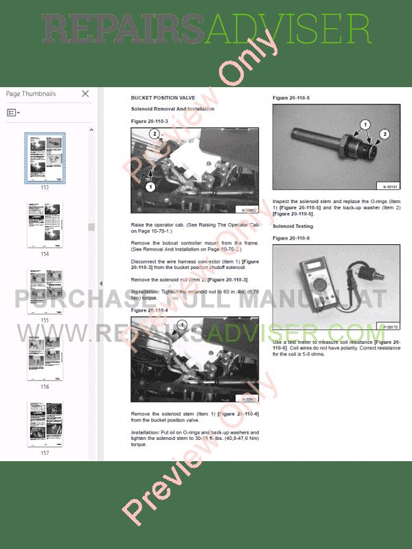 bobcat skid steer loader 751 service manual pdf, by  www repairsadviser com