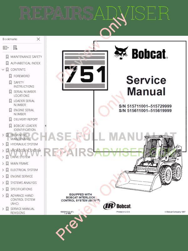 Bobcat s185 servie manual Online