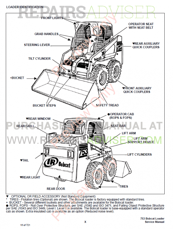 Bobcat Skid Steer Loader 753G Series Service Manual PDF, Bobcat Manuals by www.repairsadviser.com