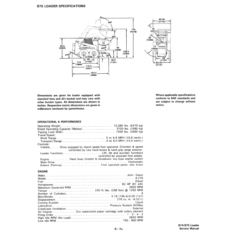 Bobcat Skid Steer Loader 974, 975 Service Manual PDF, Bobcat Manuals by www.repairsadviser.com