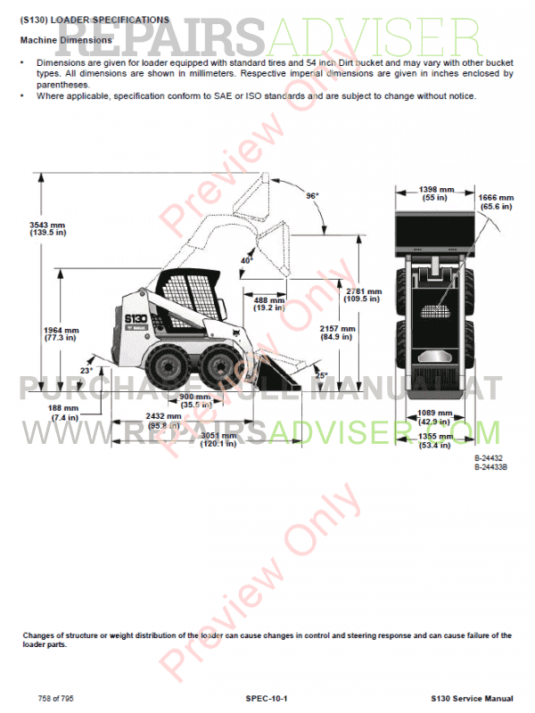 bobcat s130 parts manual on