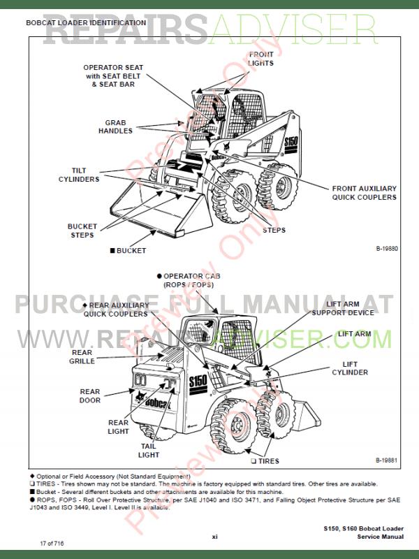 s150 bobcat wiring diagram bobcat skid steer loader s150, s160 service manual pdf ... bobcat wiring diagram free s250