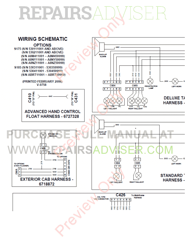 Bobcat Skid Steer Loader S175/S185 Service Manual PDF, Bobcat Manuals by www.repairsadviser.com