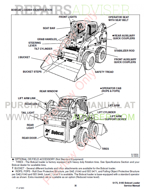 2003 bobcat s250 parts diagrams bobcat parts diagrams s 175 bobcat skid steer loader s175, s185 turbo includes high ... #6