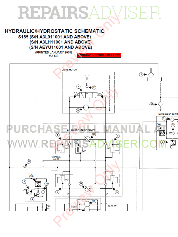 Bobcat Skid Steer Loader S185 Service Manual PDF, Bobcat Manuals by www.repairsadviser.com