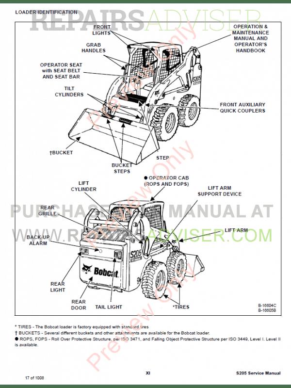 Bobcat S205 Wiring Diagram - Wiring Diagram Schema