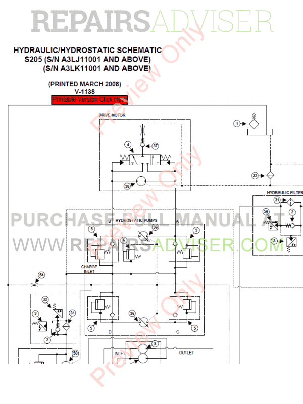 Bobcat Skid Steer Loader S205 Service Manual PDF, Bobcat Manuals by www.repairsadviser.com